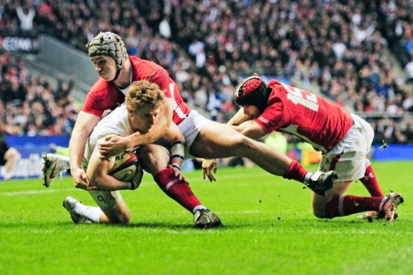 David Strettle near miss v Wales 2012