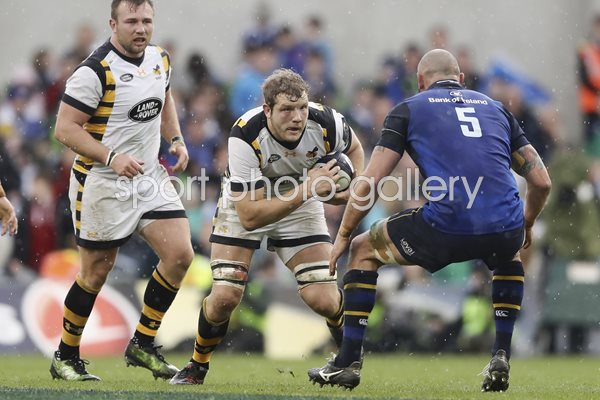 Joe Launchbury Wasps v Leinster Wasps Champions Cup 2017