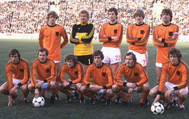 Holland line up v Argentina 1978