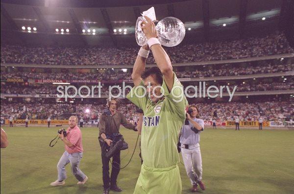 Modal Title Save Changes Close Imran Khan Pakistan World Cup Trophy 1992