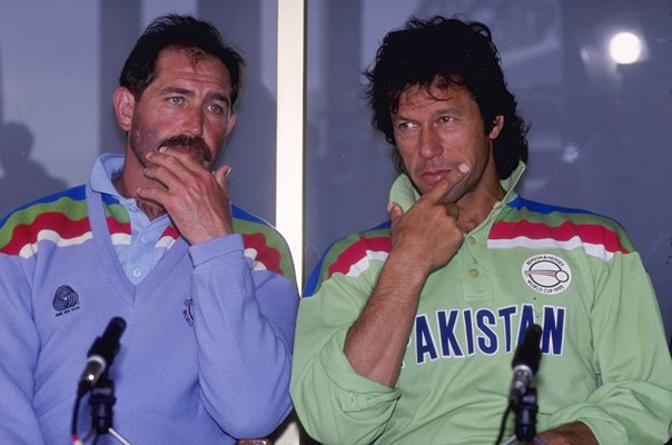 Imran Khan Pakistan & Graham Gooch England World Cup 1992