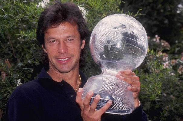 Imran Khan Pakistan World Cup Trophy 1992