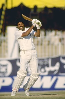Kapil Dev India captain v Pakistan 1989