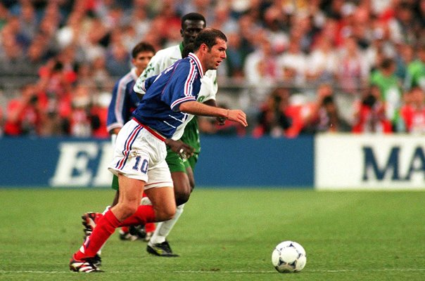 Zinedine Zidane France v Saudi Arabia World Cup 1998