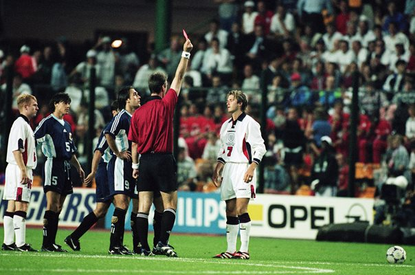 David Beckham Red Card v Argentina World Cup 1998