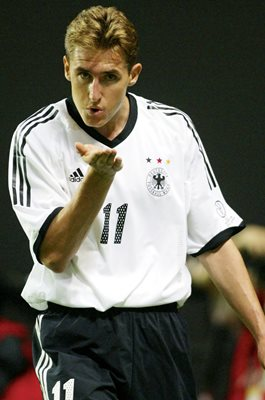 Miroslav Klose Germany v Saudi Arabia World Cup 2002