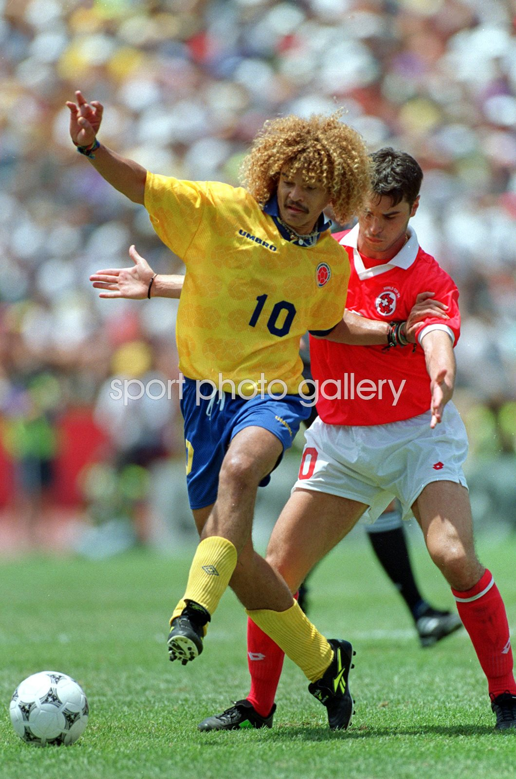 Carlos Valderrama Columbia v Switzerland World Cup 1994