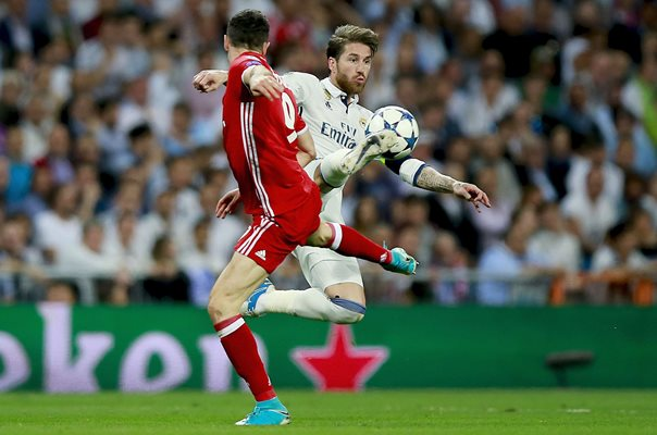 Sergio Ramos v Robert Lewandowski Champions League 2017