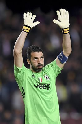 Gianluigi Buffon Juventus v Barcelona Champions League 2017