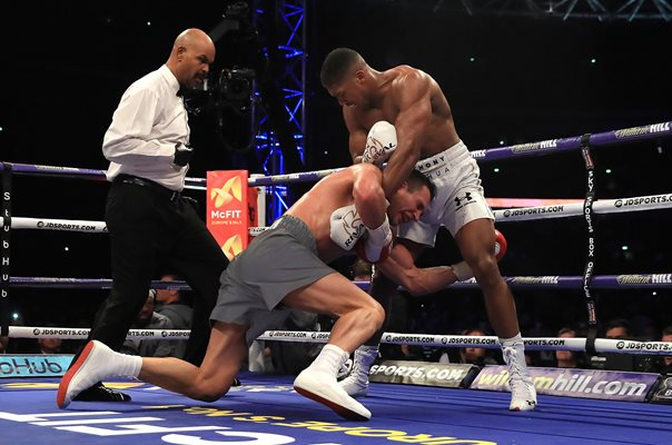 Anthony Joshua beats Wladimir Klitschko Wembley 2017