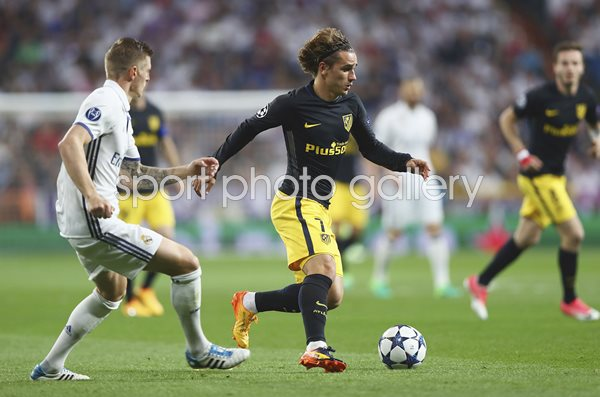 Antoine Griezmann Atletico Madrid v Real Champions League 2017
