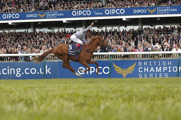 Frankie Dettori & Galileo Gold win 2000 Guineas Newmarket 2016