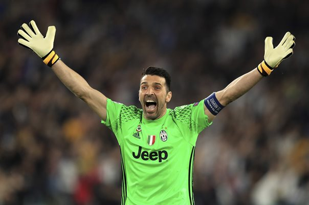 Gianluigi Buffon Juventus v Monaco Champions League 2017
