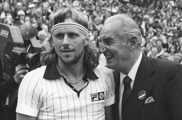 Fred Perry & Bjorn Borg Wimbledon 1978