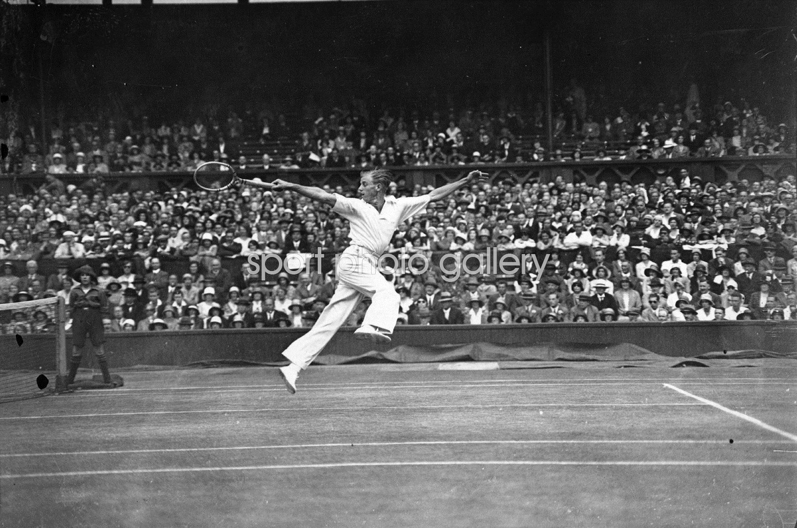 Sidney Wood v Fred Perry Wimbledon 1931