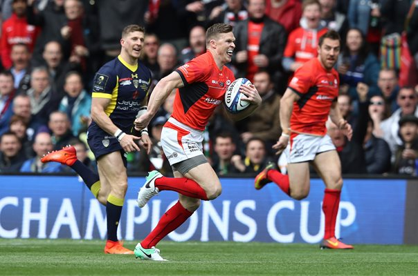 Chris Ashton Saracens scores v Clermont European Final 2017