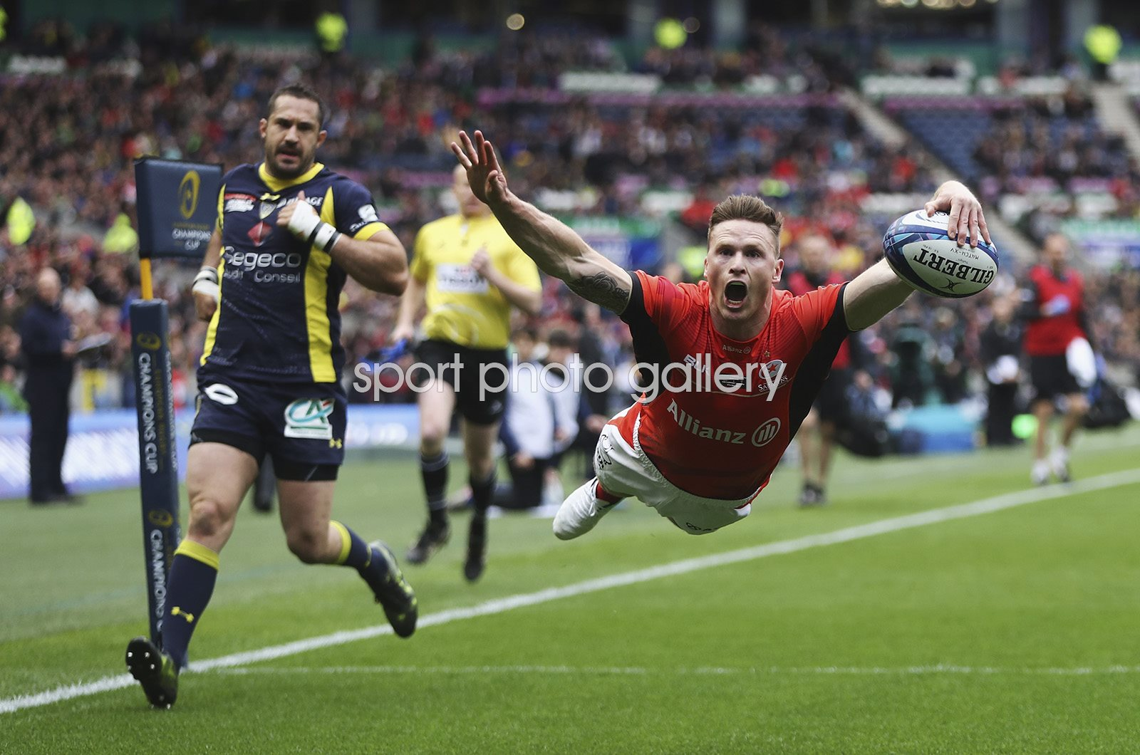 Chris Ashton Saracens scores European Cup Final 2017