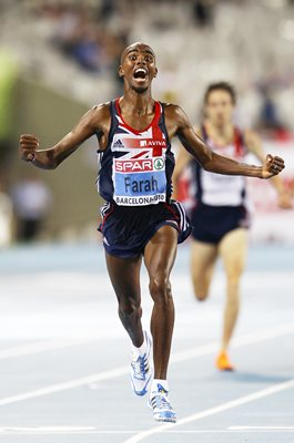 Mo Farah 10K Gold European Athletics Barcelona 2010