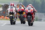 Marco Simoncelli Nicky Hayden Battle MotoGP of Germany Canvas