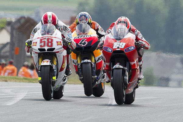 Marco Simoncelli Nicky Hayden Battle MotoGP of Germany