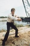 Roger Moore James Bond Live And Let Die 1973 Canvas