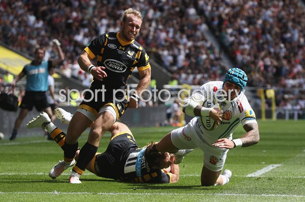 Jack Nowell Exeter Chiefs scores v Wasps Premiership Final 2017