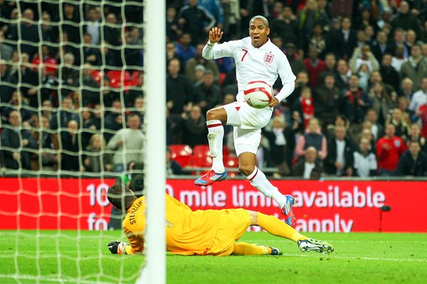 Ashley Young scores v Holland 2012