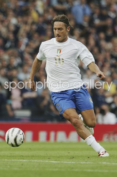 Francesco Totti Italy v Scotland World Cup Qualifier 2005