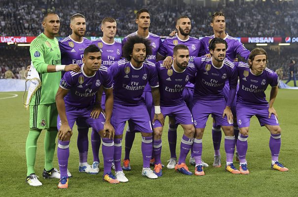 Real Madrid Champions League Final Staring Team Cardiff 2017