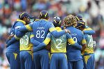 Sri Lanka Huddle v India Champions Trophy 2017 Prints