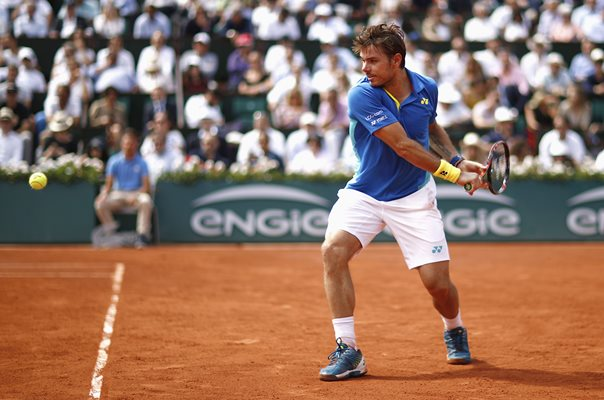 Stan Wawrinka Backhand French Open Paris 2017
