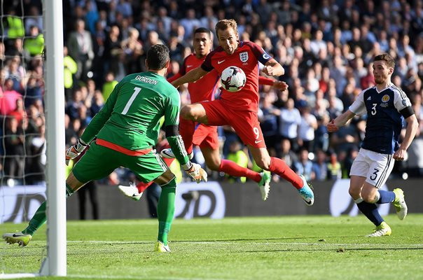 Harry Kane scores England v Scotland Glasgow 2017