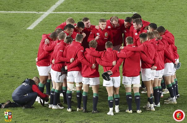 British & Irish Lions Huddle 1st Test Auckland 2017
