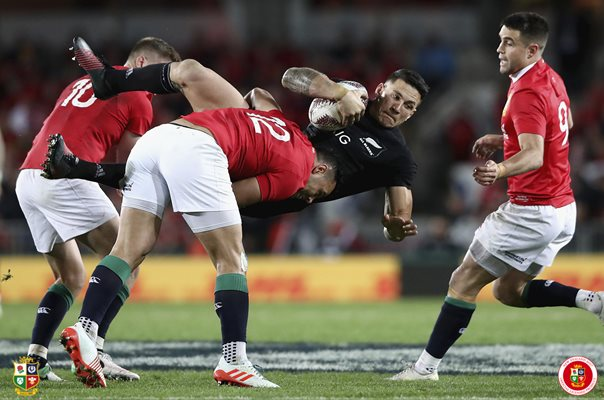 Ben Te'o British & Irish Lions tackles Sonny Bill Williams Auckland 2017