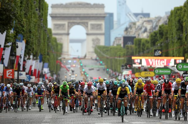 Peloton Champs-Elysees Paris Tour de France 2017