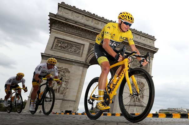 Chris Froome Tour de France Champion Paris 2017