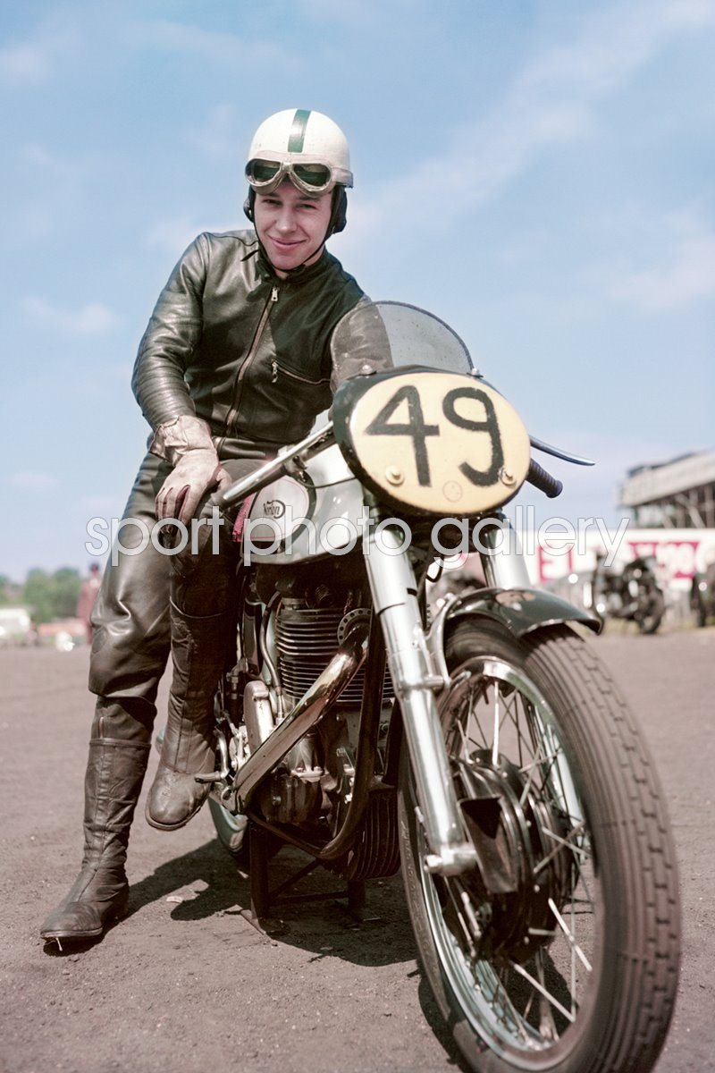 John Surtees on Manx Norton 1955