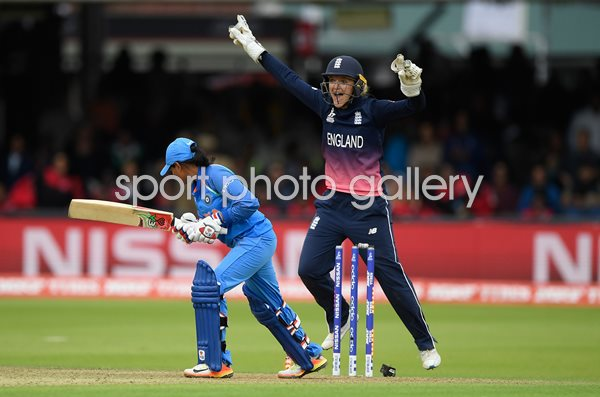Sarah Taylor England v India Women's World Cup Winning Moment 2017