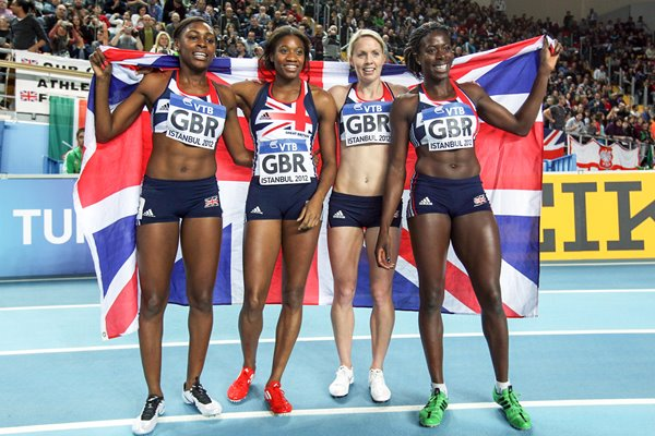 Great Britain win World Indoor 400m Relay Gold 2012