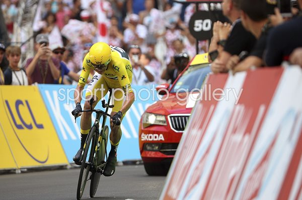 Chris Froome Stage 20 Time Trial Marseille Tour 2017
