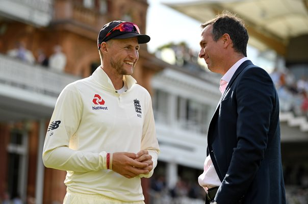 Joe Root & Michael Vaughan England v South Africa Lord's 2017
