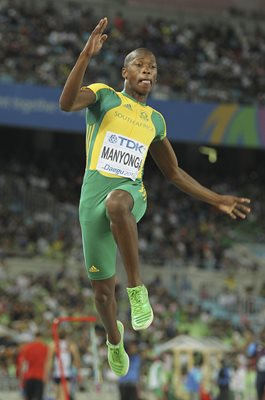 Luvo Manyonga South Africa World Athletics Daegu 2011