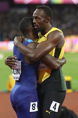 Justin Gatlin & Usain Bolt 100m World Athletics London 2017