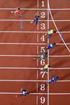Justin Gatlin beats Usain Bolt 100m World Athletics London 2017 Prints