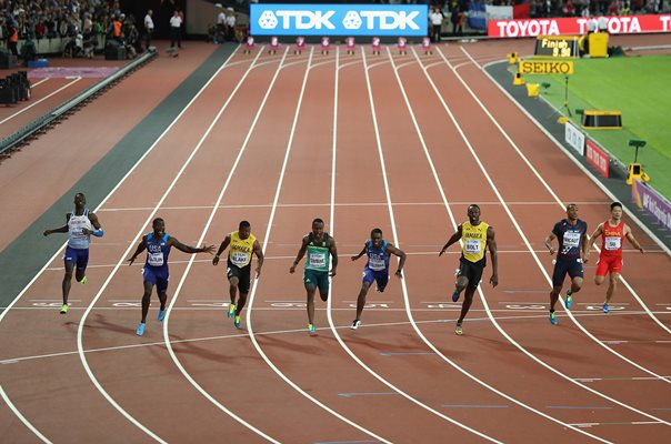 Justin Gatlin beats Usain Bolt 100m World Athletics London 2017
