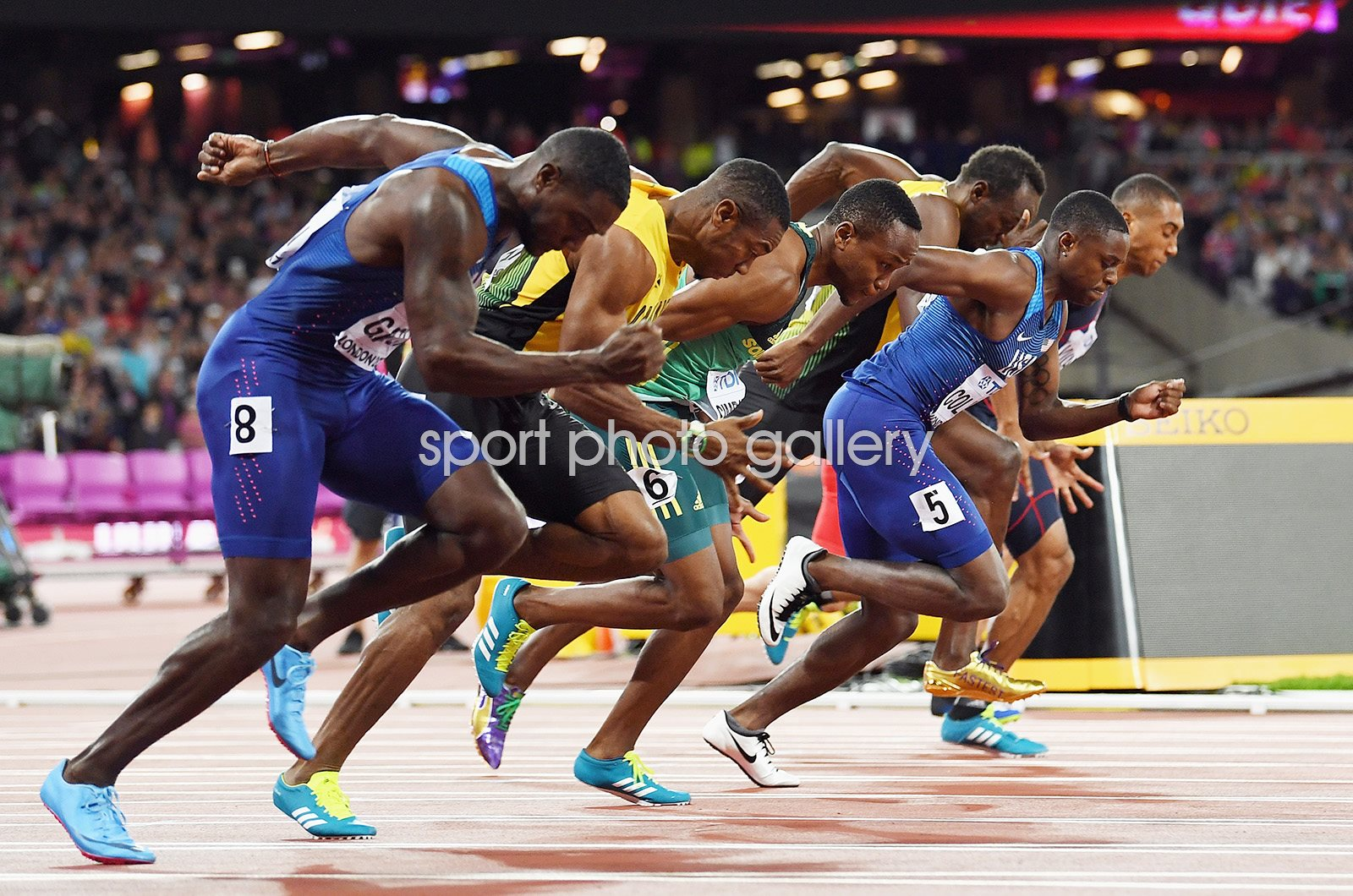 Justin Gatlin USA beats Usain Bolt 100m World Athletics London 2017