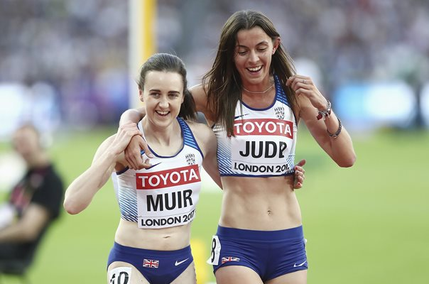 Laura Muir & Jessica Judd World Athletics London 2017