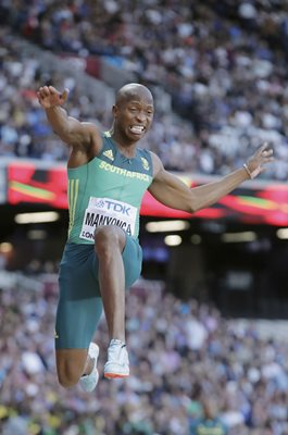 Luvo Manyonga South Africa World Athletics London 2017