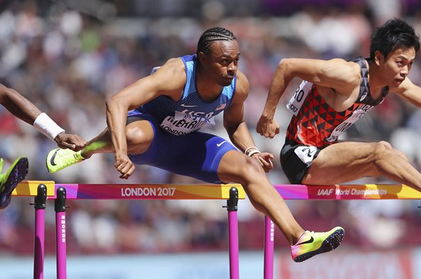 Aries Merritt USA 110m Hurdles World Athletics London 2017