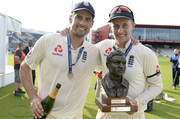 Alastair Cook & Joe Root England v South Africa Manchester 2017